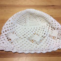Вязаная шапочка,100% хлопок, арт 056, размер 54-56