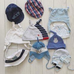 Capace, pălării, șepci, șepci de baseball 0-6 luni