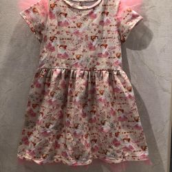 Dress 110-116, for 4-5 years new, cotton