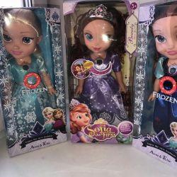 Müzikal bebekler Sofia, Anna ve Elsa