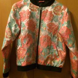 Бомбер цветочный, куртка