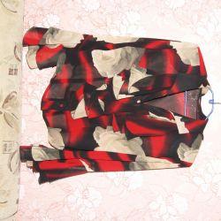 Multi-colored blouse. 50 - 52