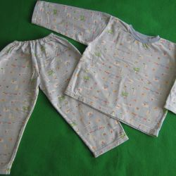 Pajamas for children flannel with fleece 98 -104