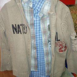Jacket pentru blugi, 2 cămăși