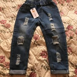 New blue jeans for boy or girl