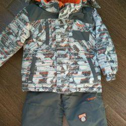 Jacket pentru băieți, iarna pentru 4-5 ani