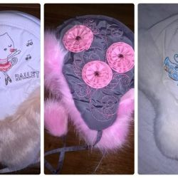 Winter children's hats New with ethical solutions 44,46,48