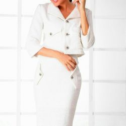 White suit from a boucle