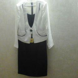 Платье - костюм ( платье + пиджак) р. 56-58
