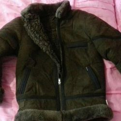 Sheepskin coat on a boy's height 140 and pants