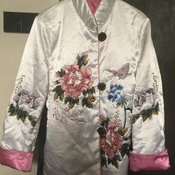 Шелковая куртка в китайском стиле 46-48рр