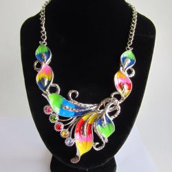 Accessory, decoration. Necklace set with earrings