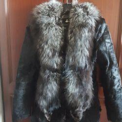 Fur coat, rabbit fur coat.