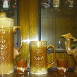 Decanter, jug and beer mug.2stopki.SSSR.Keram.