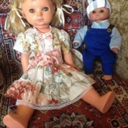 Dolls and baby stroller