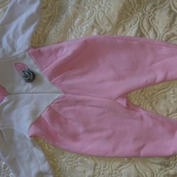 Overalls for girls. Warm with fleece