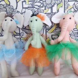 Elefanți - balerine, realizate manual