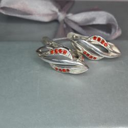 Earrings are made of 925 silver. Weight 3,6 gr