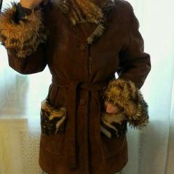 Koyun derisi ceketli özel İtalyan Umberto Olivieri