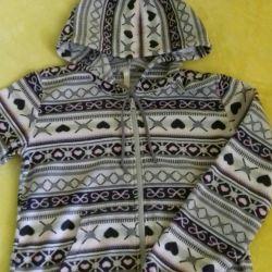 10-12 yıl için Fleece sweatshirt d / girls