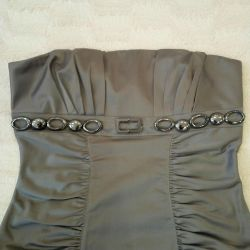 The dress is gray-brown, 44-46r