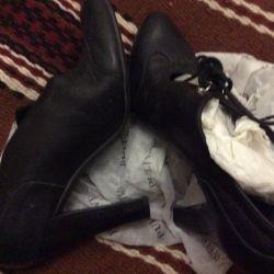 Туфли чeрные кожаные 36 размер