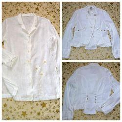 İki beyaz ceket% 100 len