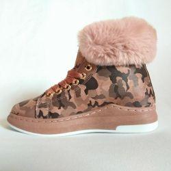 Kamuflaj pembe ayakkabı 5d