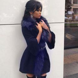 Παλτό με φυσική γούνα ρακούν