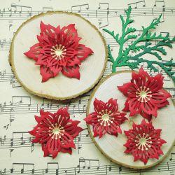 # 40Ц - A set of handmade flowers.
