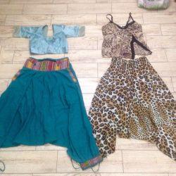 Alibaba, wide trousers, afghani, sari, combination