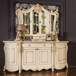JACQUE CREAM LUSTER'S CHEST (WITH MIRROR)