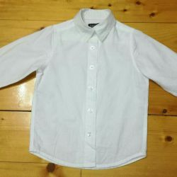 Λευκό παιδικό πουκάμισο