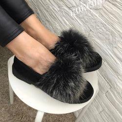 Fur Ballet Flats