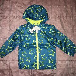 Windbreaker-raincoat on fleece