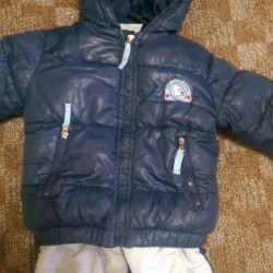 Детская куртка с комбинезоном