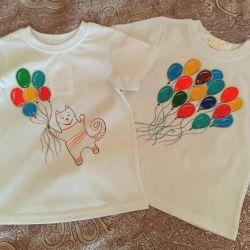 Новая Детская футболка. Рисунок надпись на майке