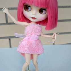 Collectible blythe doll Kare with a matte face