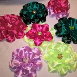 Decorative bows for hair, handmade