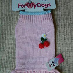 Ροζ φόρεμα με κεράσια (ρούχα για σκύλους)