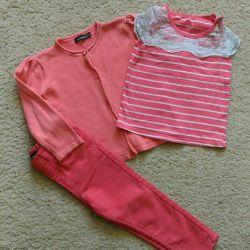 Μοντέρνο τόξο (τζιν, μπλουζάκι, καρδινάλιο) 92 μέγεθος