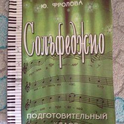 Exercise book on solfeggio