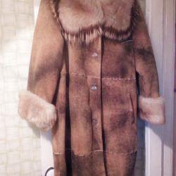Faux sheepskin coat