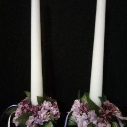 Свечи интерьерные с декором