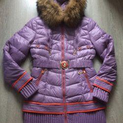 Пуховик женский Куртка зима- весна трансформер