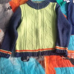 Тeплый свитер и кофта (122-128)