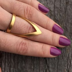 Ring claw with gilding