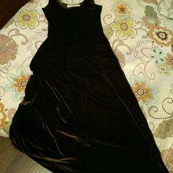 The dress is velvet.
