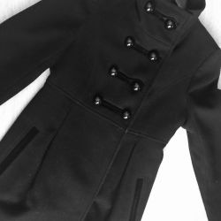 Coat Classic black double-breasted fitted