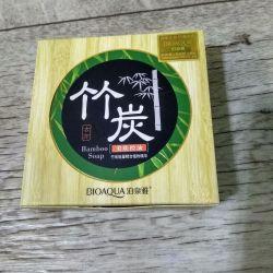 Bioaqua Bamboo Soap Bamboo Charcoal Soap, 80g